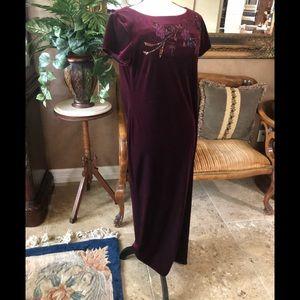Carole Little Odyssey Velvet Maxi Dress (NWT)